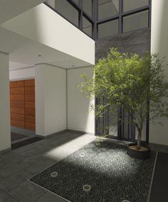 Patio del edificio de viviendas situado en el centro de Sevilla Patio, Sevilla, Buildings, Centre, Architecture, Interiors, Terrace