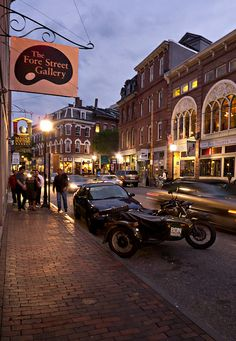 """Fore Street in Portland Maine""""s Old Port Section-One of my favorite cities. :)"""