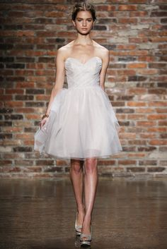 Brides: Alvina Valenta - Spring Style knee-length strapless shimmer tulle A-line bridesmaid dress with a sweetheart neckline and ruched bodice, Alvina Valenta Bridesmaids Designer Bridesmaid Dresses, Blue Bridesmaid Dresses, Alvina Valenta Wedding Dresses, Perfect Bride, Tulle Wedding, Dress Wedding, Wedding Dress Styles, Trendy Dresses, Spring Dresses