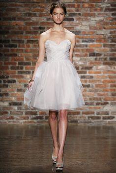 Vestido de novia corto de JLM Couture (FW 2014) #weddingdresses #NYBW