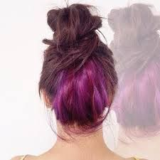 purple under layer of hair