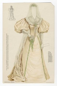 75.2334: wedding gown | wedding gown | Paper Dolls | Dolls | National Museum of Play Online Collections | The Strong
