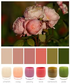 glassybaby | love me some peony color inspiration