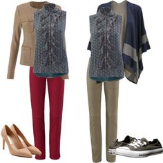 Medallion reign blouse - dressy and casual by liz-muirhead on Polyvore featuring Converse, Diane Von Furstenberg and CAbi