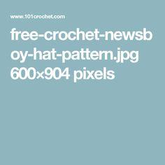free-crochet-newsboy-hat-pattern.jpg 600×904 pixels