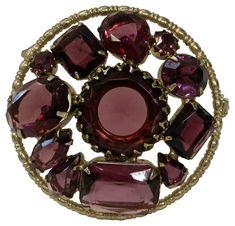 1920s Royal Amethyst Crystal Brooch $229.00