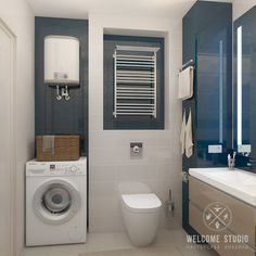 Casas de banho minimalistas por мастерская дизайна welcome studio minimalista Apartment Interior, Apartment Design, Bathroom Interior, Modern Bathroom, Bathroom Plans, Downstairs Bathroom, Laundry In Bathroom, Laundry Rooms, Bathroom Ideas