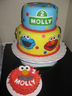 Sesame Street Birthday Cake - love this smash cake!! @Kiersten Butler Stahl
