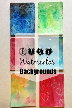 Handmade with Love: Easy Watercolor Backgrounds & Textures | Video Tutorial