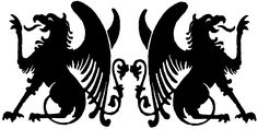 Griffin Installations Griffin Tattoo, Chimera, Coat Of Arms, Dungeons And Dragons, Tattoo Ideas, Wings, Patio, Fantasy, Logo