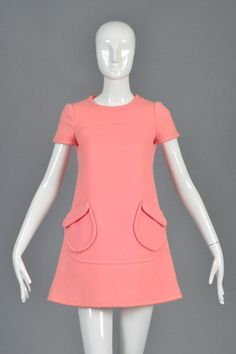 Mod dress soft wool women dress winter repro dress custom made Robes Vintage, Vintage Outfits, Winter Dresses, Day Dresses, Dress Winter, 1960s Fashion, Vintage Fashion, Classy Outfits, Cool Outfits