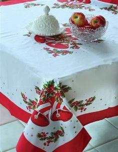 CHRISTMAS BELLS NOSTALGIC TABLECLOTH