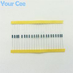 100 unids 1/4 W Resistor de Película Metálica 330 ohm 330R 1% Tolerancia de Precisión RoHS Sin Plomo En Stock