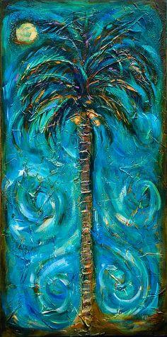 Linda Olsen - Night Palm   ♥ ♥ www.paintingyouwithwords.com