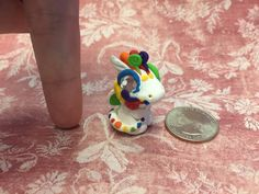 Polymer Clay Baby Rainbow Dragon by AetherCreations on Etsy
