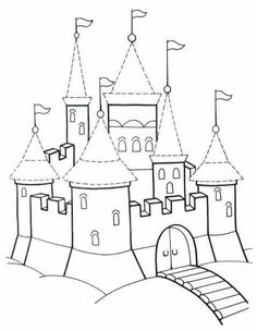 "MY Sandbox: Téma ""Rytíři a hrady"" Projects For Kids, Diy For Kids, Colouring Pages, Coloring Books, Elven City, Airplane Coloring Pages, Castle Painting, Mexican Embroidery, Château Fort"