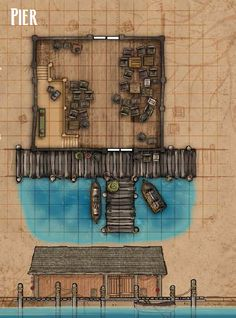 fantasy map - harbor house