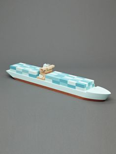 Wooden Boat Emma Maersk by Papafoxtrot $135 on gilt.com