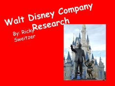 walt-disney-company-research by Richard Sweitzer via Slideshare
