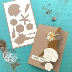 Saturdays with Sally: To the Beach! - Hero Arts Beach Cards, Ocean Themes, Some Cards, Hero Arts, Masculine Cards, Color Card, Art Blog, Neutral Colors, Sea Shells
