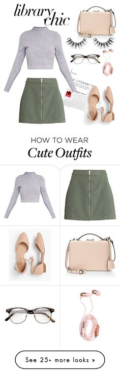 """""""Cute Study Outfit"""" by hannah-honey-1 on Polyvore featuring Talbots, Mark Cross and Velour Lashes"""