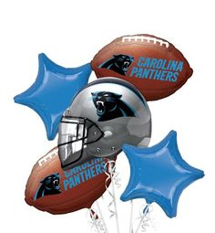 Carolina Panthers Balloon Bouquet - Party City Helium balloons so friends can find us!