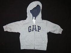 A Toddler Boys Baby Gap Zip Front Hoodie Sweatshirt Gray Sz 12 18 Monts   eBay