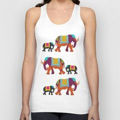 Elephants on the Streets of India T-shirt by simigauba Saree Painting, Dress Painting, T Shirt Painting, Fabric Painting, Stylish Dress Designs, Stylish Dresses, Salwar Designs, Blouse Designs, Kurta Patterns