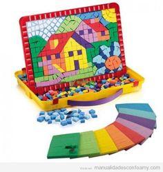 Foam mosaic craft by Manualidades con Foamy