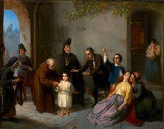 Moritz Daniel Oppenheim. The Kidnapping of Edgardo Mortara (1862).