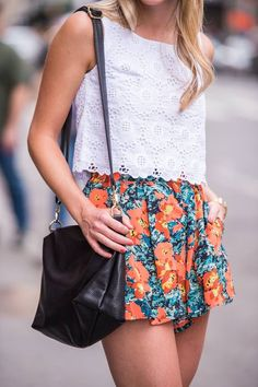 Floral And Lace Outfit Idea