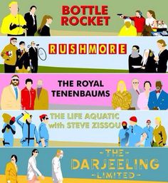 Some of Wes Anderson's work