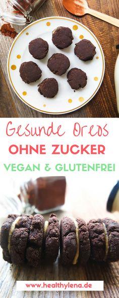 Gesunde Oreos, vegan, glutenfrei, ohne Soja, ohne Zucker und mit nur wenigen Zutaten – geht nicht? Aber klar! Hier gibt es das Rezept.