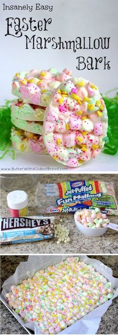 DIY Easter Marshmallow Bark Pictures, Photos, and Images for Facebook, Tumblr, Pinterest, and Twitter