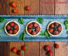 Tartaletas de fresas y chocolate