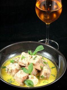 Emincé de saumon au cidre et au safran