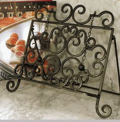 Forged Iron Book Holder
