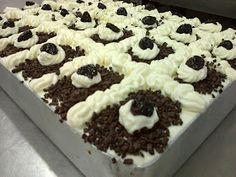 Greek Sweets, Greek Desserts, Cold Desserts, Greek Recipes, Easy Desserts, Dessert Recipes, Cookbook Recipes, Cooking Recipes, Food Network Recipes