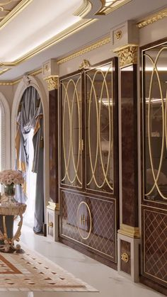 Door Design Interior, Luxury Interior Design, Palace Interior, Living Room Interior, Home Entrance Decor, Home Decor, Porte Cochere, Hotel Room Design, Dressing Room Design