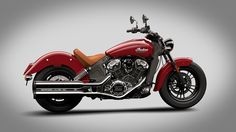 2015 Indian Scout Red Motorcycle