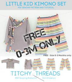 Titchy Threads - Little Kid Kimono Set