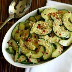 Miso + Sesame Cucumber Salad