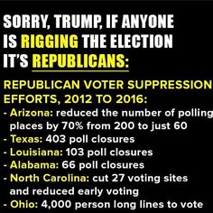 Right, and I'm sure republicans were responsible for it! Stupid racists disenfranchising voters, requiring an id, what next?  They'll probably make us get a job and work for a living!