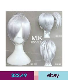 Hair Extensions & Wigs Lol League Of Legends The Exile Riven Short Ponytail Cosplay Party Wig #ebay #Fashion