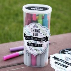 Sharpies Teacher Appreciation Gift