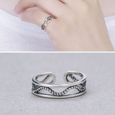 Exaggerated Face Geometric Alloy Totem Personality National Rings Jewelry