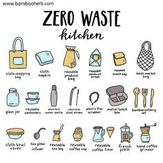 "Bamboo Herb | Zero Waste on Instagram: ""Great tips for a Zerowaste kitchen. . If you are looking at minimizing waste in your household, the kitchen is a great place to begin .…"""