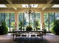 sky lights and floor to ceiling windows brings the outside in -- Tim Clinch photo