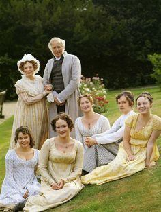 The Bennet family, from my favorite Pride and Prejudice on film - the 1995 BBC TV mini series.