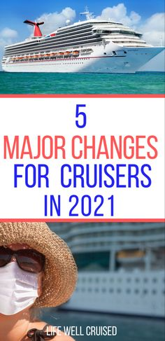 Cruises in 2021 will look different, and this means planning will be different for cruisers too. Here are the 5 changes on cruises that you need to know about for cruises in 2021. #cruise #cruisetips #cruising #cruisenews Packing List For Cruise, Cruise Europe, Cruise Port, Alaska Cruise, Cruise Tips, Cruise Travel, Cruise Vacation, Vacation Ideas, Cruise Outfits
